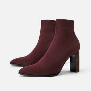 Zara Ankle Boots Sock Style 8
